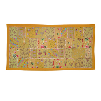 Heavy Flower Patchwork Embroidered Wall Hanging Tapestry. Rajasthani ...