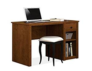"""Bestar Home Computer Desk 47.5""""W X 23.5""""D X 29.5""""H Durable 3/4"""" Commercial Grade Work Surface With Melamine Finish - Tuscany Brown"""