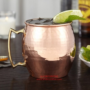 Hammered Copper Moscow Mule Mug