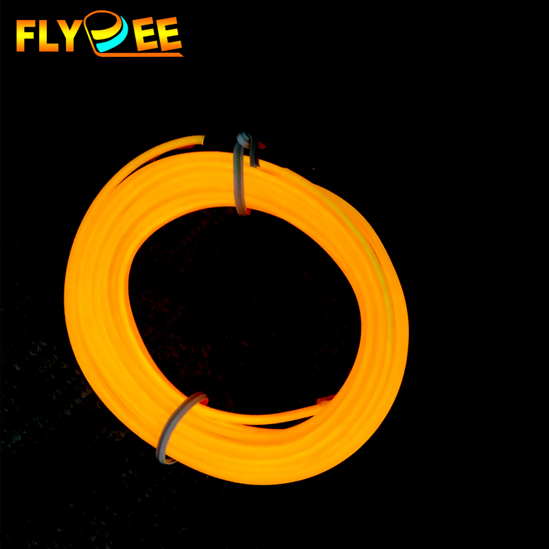 High voltage neon light wire 2.3mm 10 colors flexible glowing EL wire