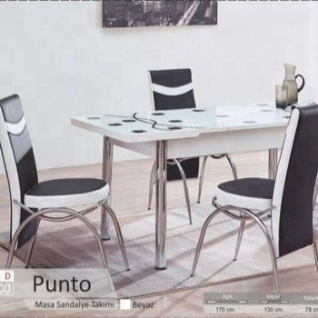 Glass And Metal Dining Sets