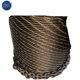6x19 yellow strand ungalvanized steel wire rope with asphltum coating