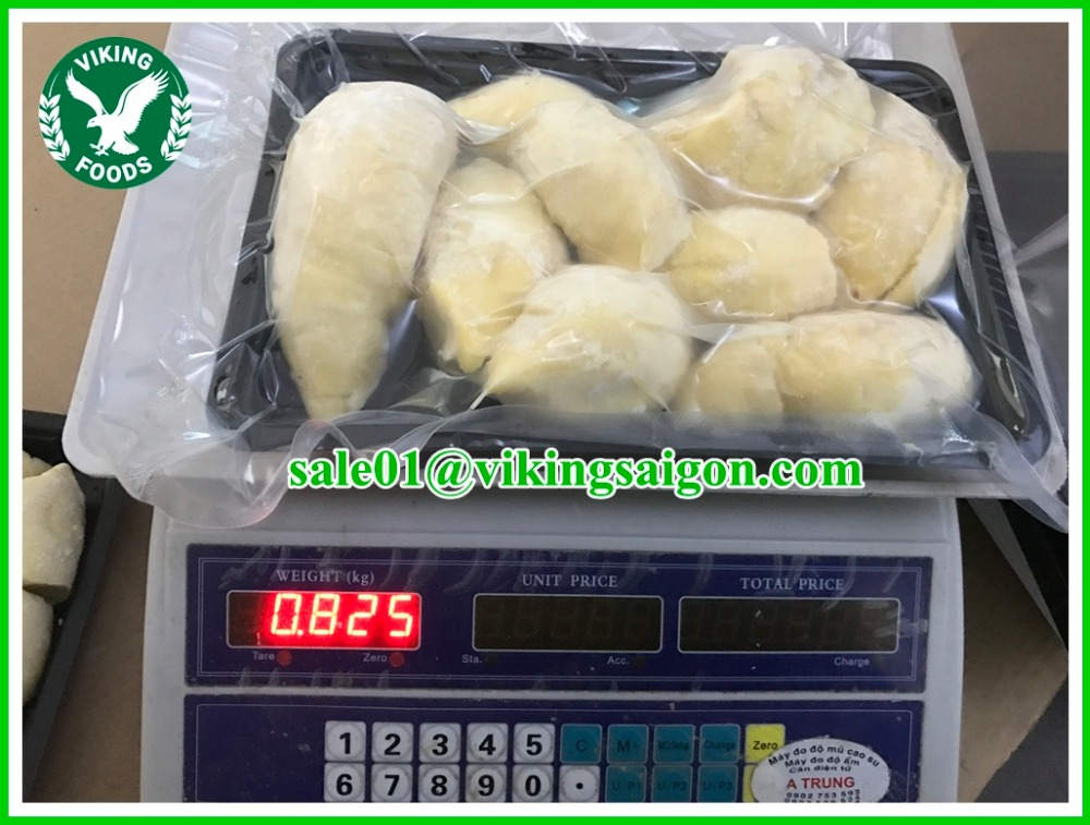 FROZEN DURIAN MEAT SEEDLESS_ MONTHONG DURIAN FROM VIETNAM