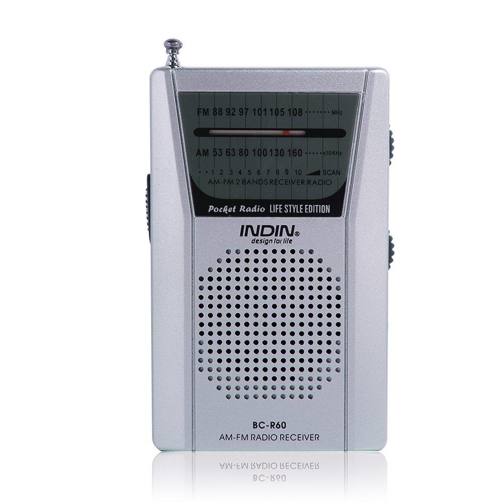 Get Quotations · Hapito AM/FM Portable Radio - Mini Pocket Radio Battery  Operated Radio Receiver BC-