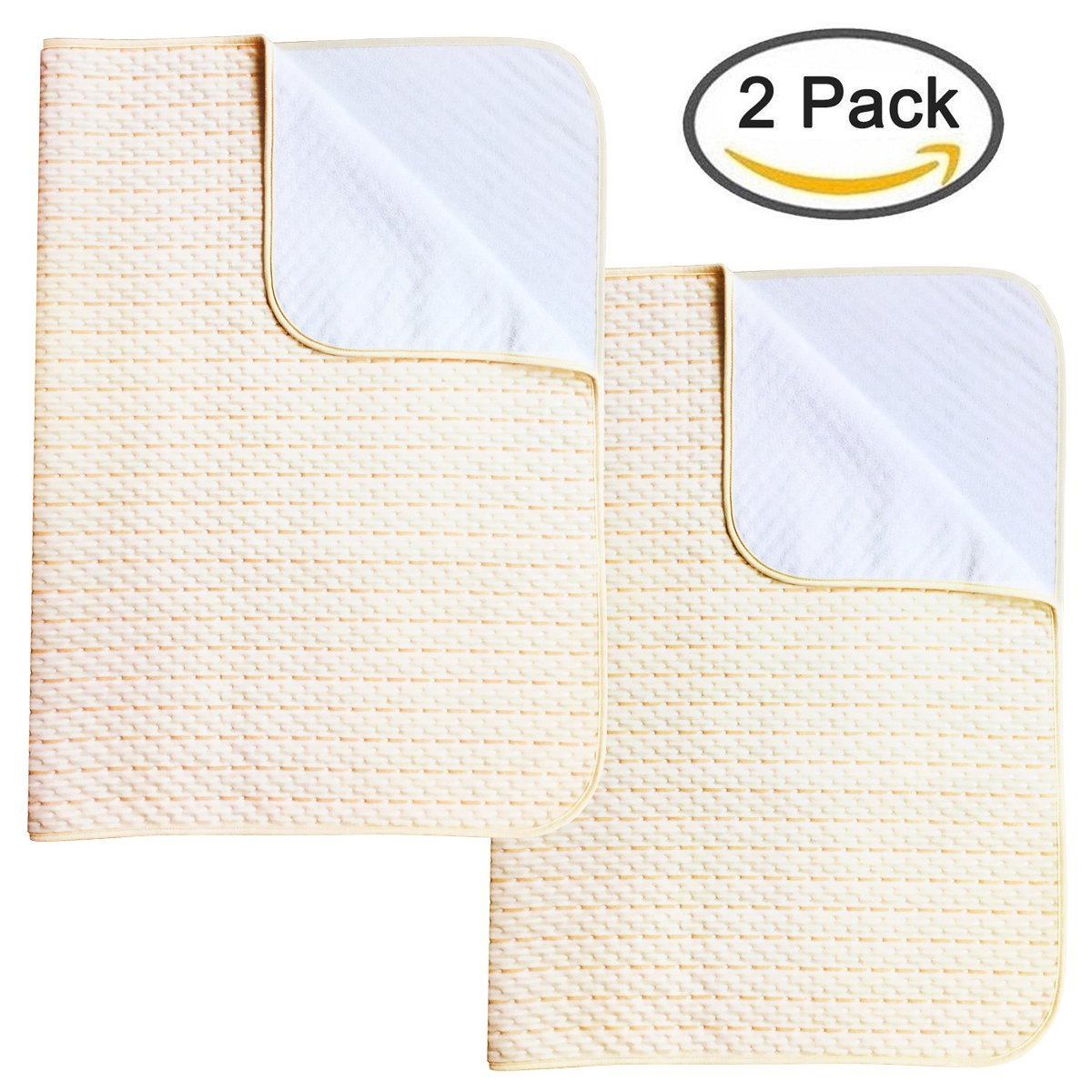 Ultra Waterproof Sheet and Incontinence Bed Pad, Mattress Protector for Toddler Children Adults (2 Pack)