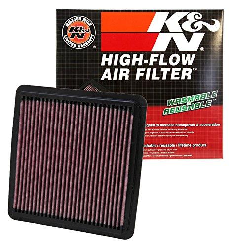 K&N 33-2304 High Performance Replacement Air Filter for 2003-2017 Subaru 1.5L/1.6L/2.0L/2.5L/3.0L/3.6L
