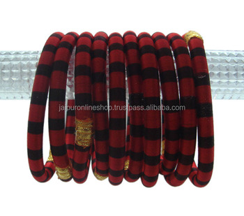 Bridal Fancy wear charming silk thread bangles
