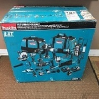 New Makita LXT1500-230 18V LXT Li-Ion Cordless 15-Pc. Combo Kit