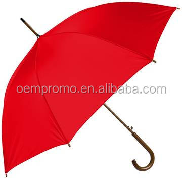 High Quality Wholesale 23 Inch Stick Promotional Wooden Handle Umbrella