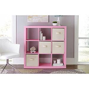 3x3 Cube Cabinet in Multiple Colors, 9 Cubes Cabinet for Extra Storage Saving, Living room Cabinets, Living room Cube Cabinet, Home Decor, Home Cabinet, Home Furniture BONUS e-book (Pink)
