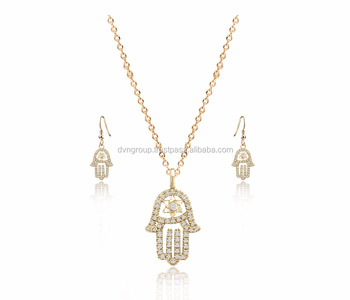 Gold plated the hamsa collection pendant set buy designer gold gold plated the hamsa collection pendant set aloadofball Image collections