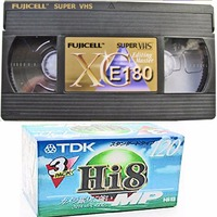 FUJICELL TOTAL RECORDING MEDIA TAPES VHS E180 AND HI8 ON SUPER DEALS
