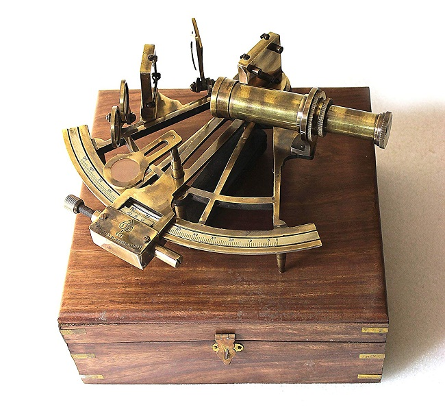Antiques Aggressive Antique Nautical Sextant Brass Vintage United Collectible Decorative Gift