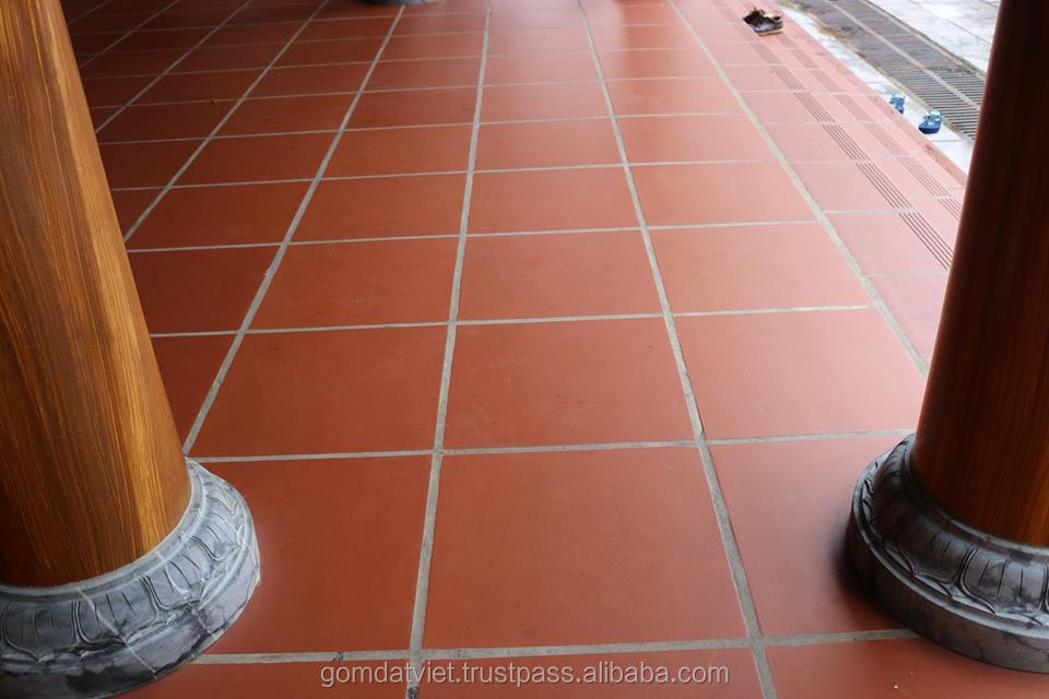 Wholesale Terracotta Tile Floor Non Slip Restaurant Floor Tile Red