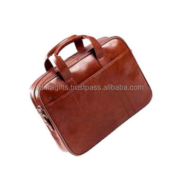 Simple Brown Computer Satchel Bags Leather Laptop Briefcase Whole Nice Style Name