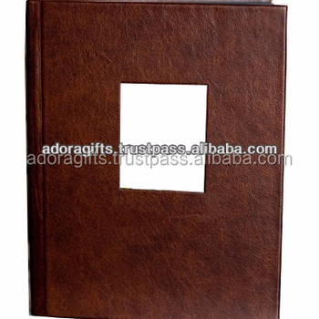 5x7 wedding photo album / photo book album leather / brown handmade photo albums cover