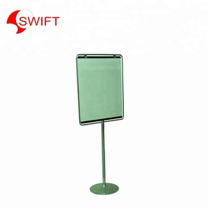 Hotel promotion real estate road menu metal display sign holder frame floor rack stand