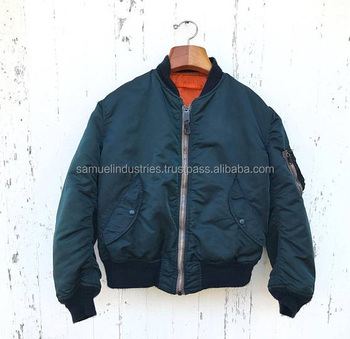 Vintage Ma 1 Bomber Jacket Samuel Industries Green Flight Jacket Reversible Nylon Bomber Jacket Buy Manufacturing Wholesale Price Premium Quality