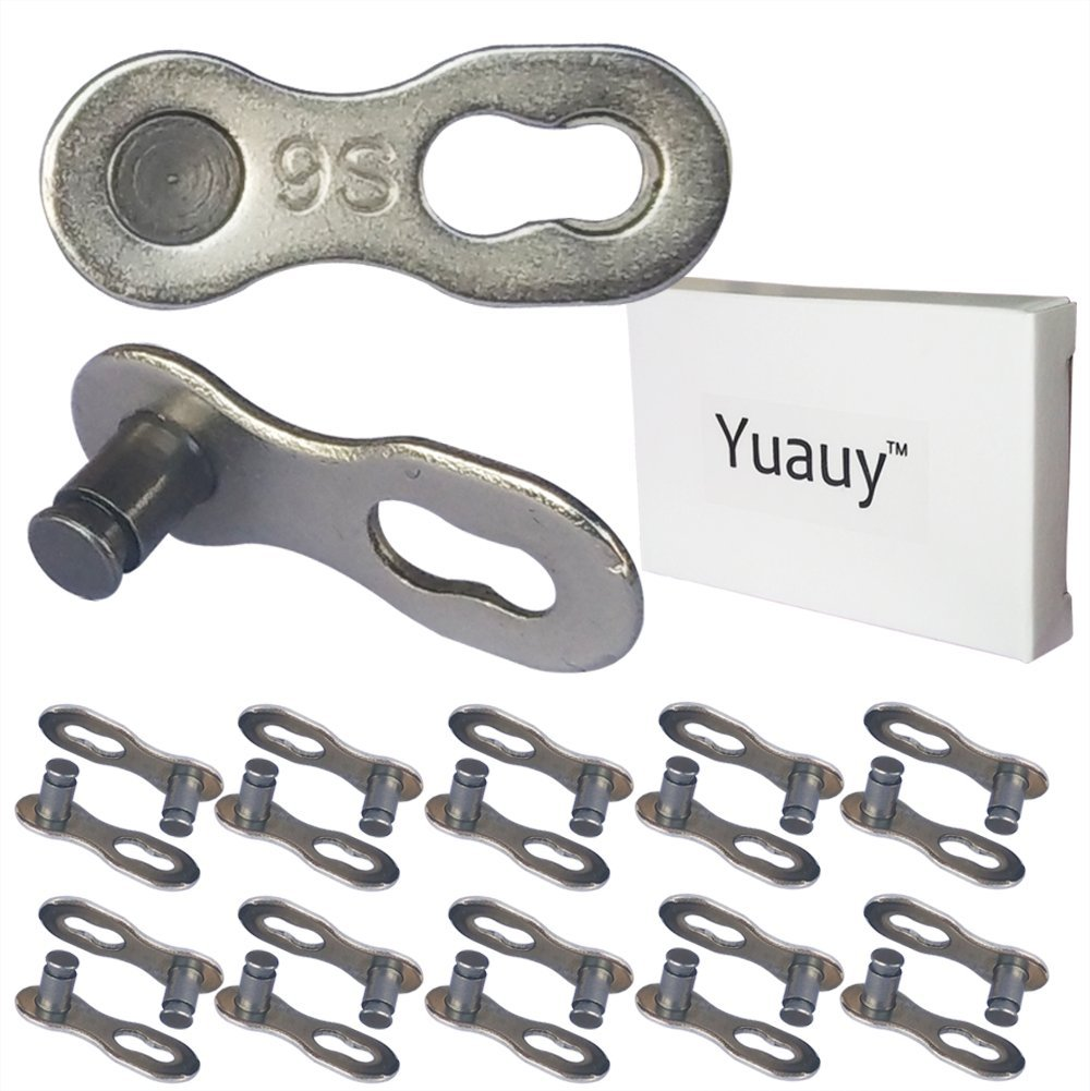 Pack Heavy Duty D Shape Chain Locking M4 4MM Chain Quick Link Connector CUFEAL 10 Black