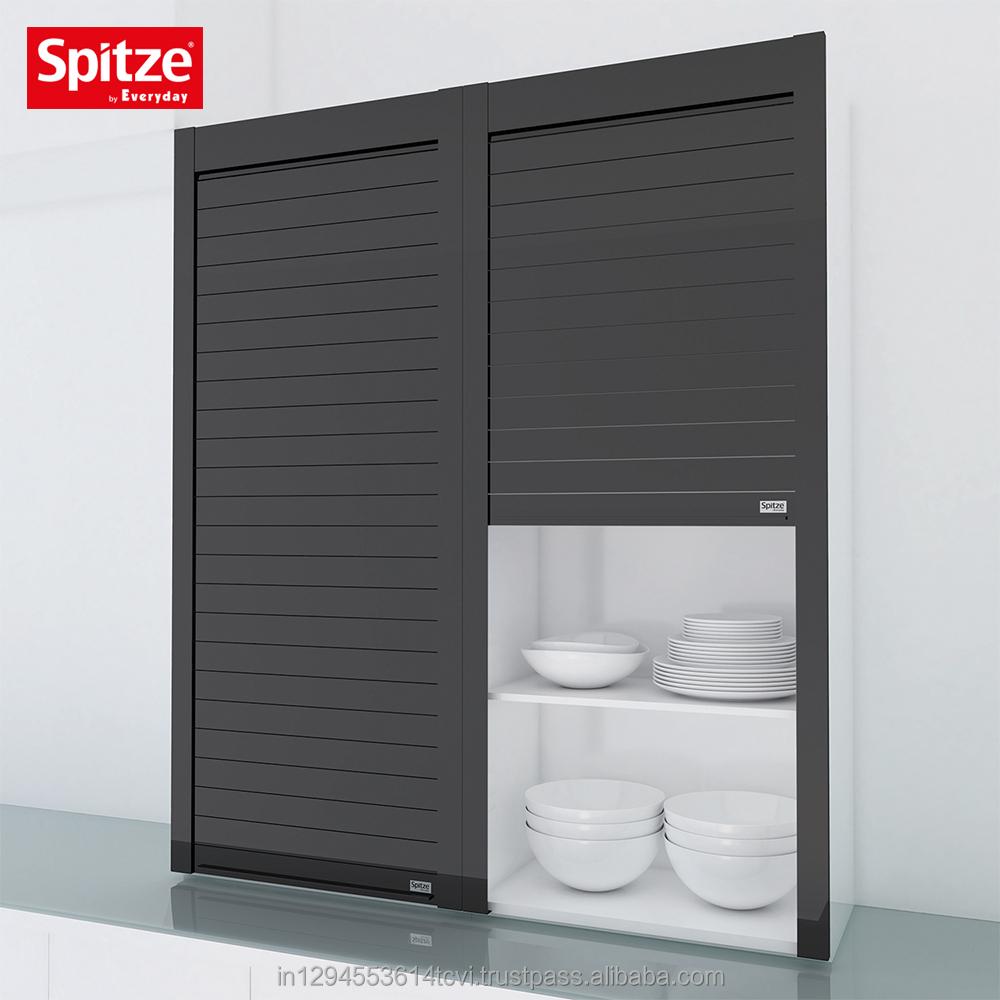 Black Glass Kitchen Cabinet Roller Shutter Door Buy Plastic Roller