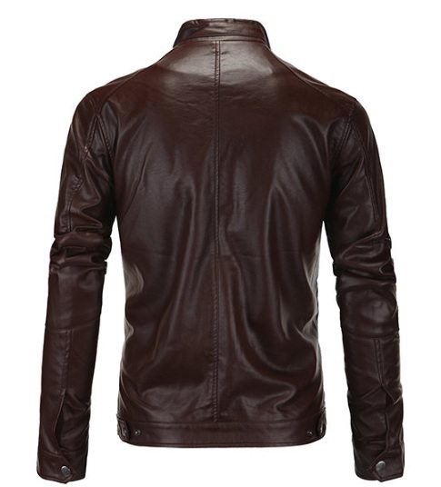 Latest arrival Men Full Zipper Fashion Leather Jacket