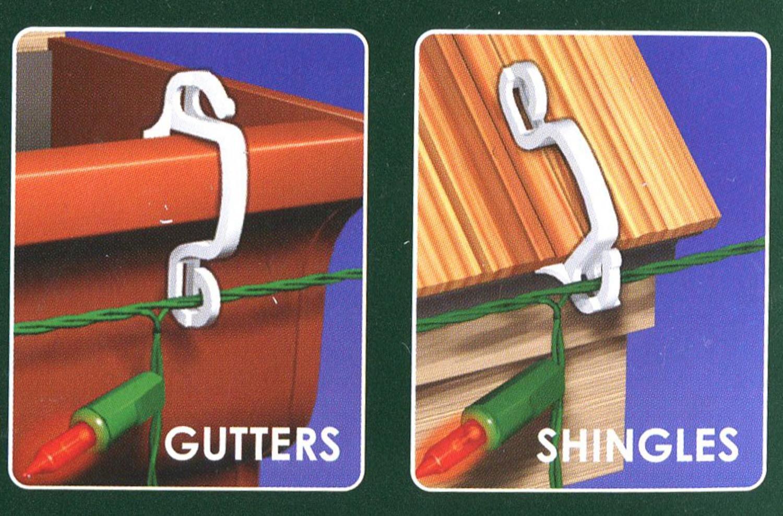 Buy 40ct Outdoor Gutter Hooks For Hanging Christmas Lights