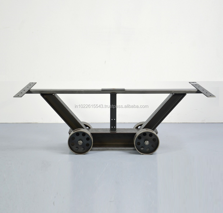 Metal Table Legs With Wheels