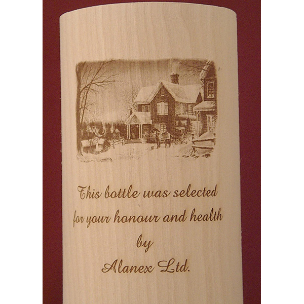 ALANEX flexible custom round wooden box for wine