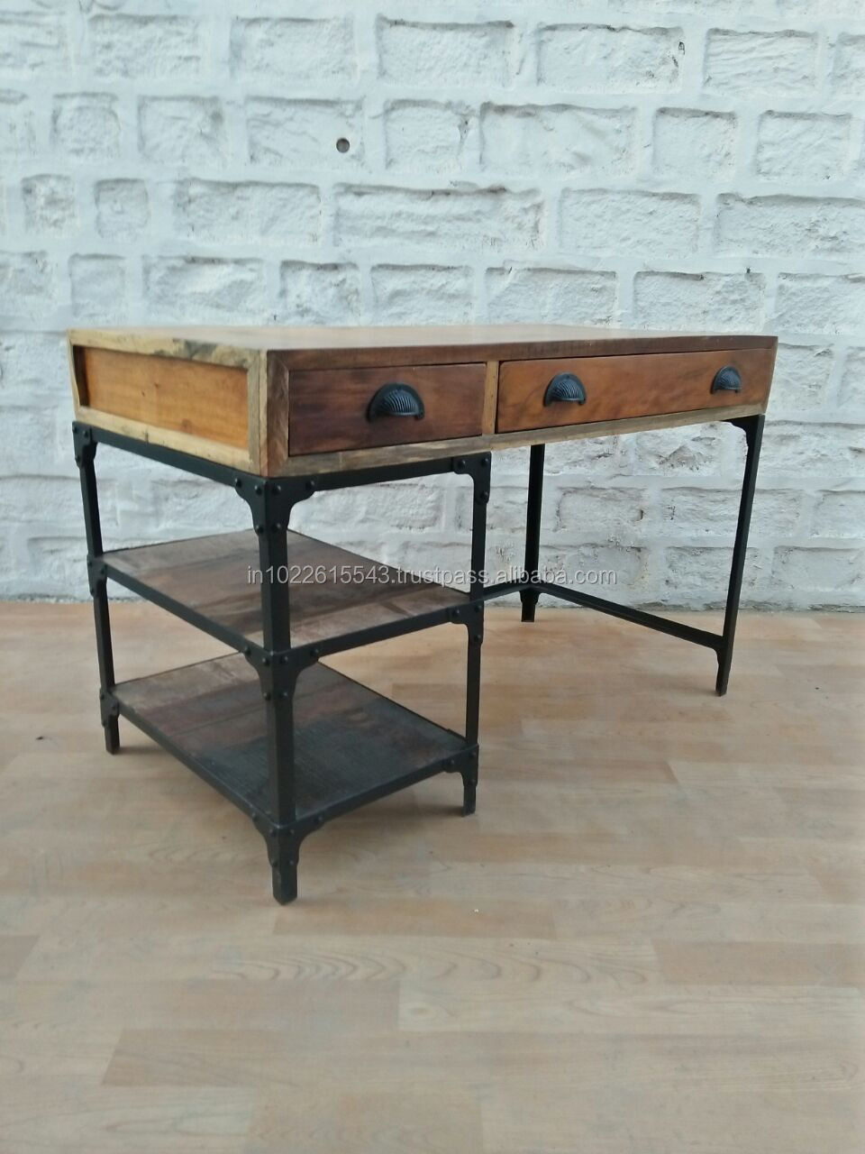 Image of: Industrial Mango Wood Study Desk With Drawers Modern Mango Wood Office Desk Buy Office Desk With Locking Drawers Solid Wood Study Desk Classic Wood Office Desk Product On Alibaba Com