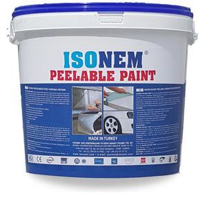 ISONEM PEELABLE PAINT, WATER BASED PEELABLE RUBBER PAINT, TEMPREORARY SURFACE PROTECTION SYSTEM