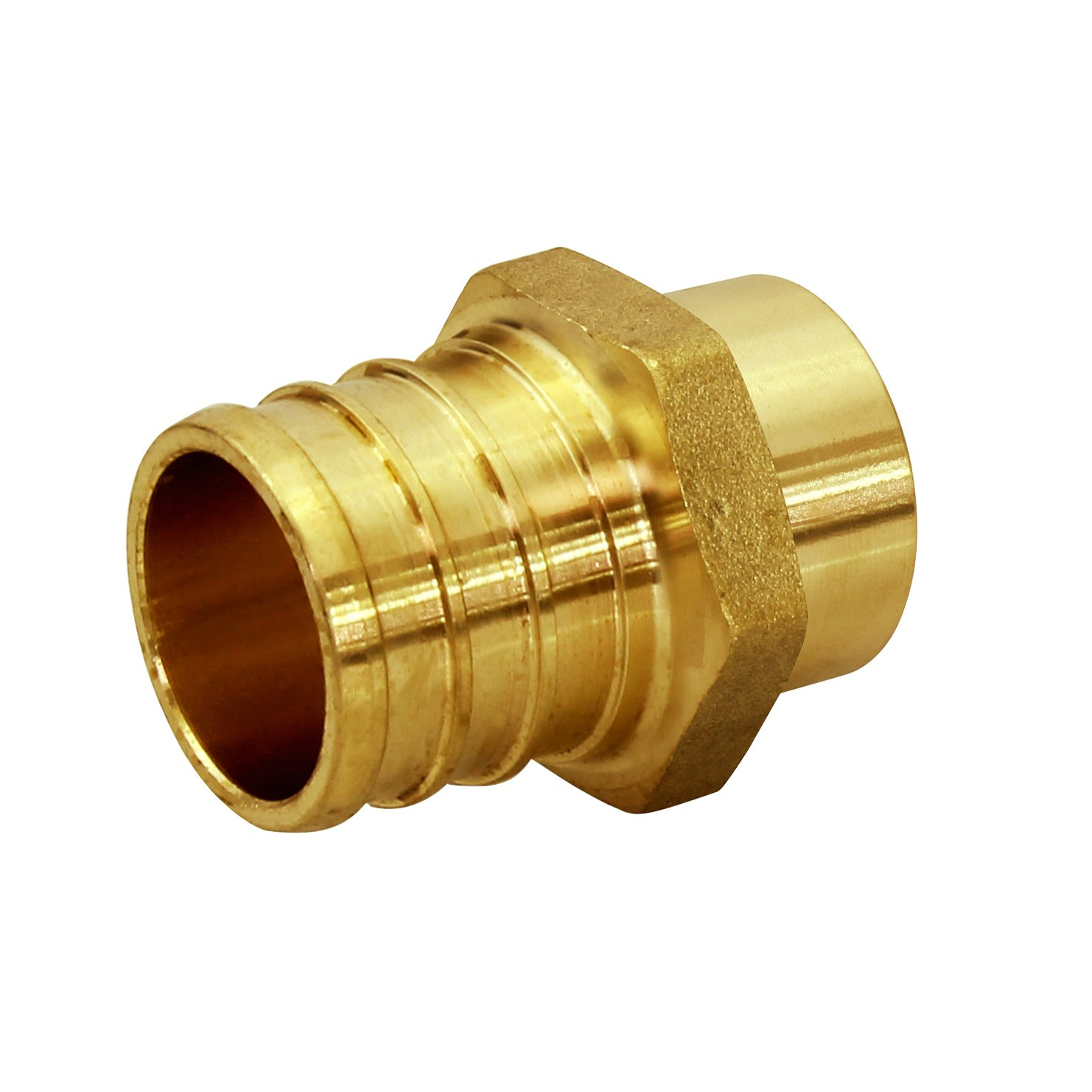 Everflow PSMA3412-NL 3/4 Inch x 1/2 Inch Lead Free Brass Adapter PEX X MALE SWEAT, Brass Construction, Compatible w/ PEX Piping, Low-Cost plumbing Connection, Durability & Reliability, Easy to Install