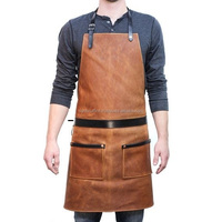 Professional 2018 waxed canvas New Style Leather Apron, Denim & Canvas Apron Man Woman Worker Artist Waiters Barber Salon Apron.