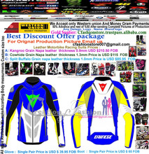 Safety CE Approved Leather motorbike/motorcycle racing jackets