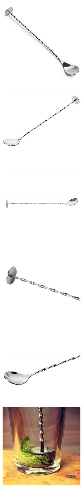 Premium Stainless Steel Long Mixing Spoon Cocktail Spoon Bar Spoon