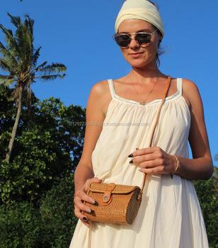 Round Bali Bag Ata Round Woven Bag Buy Bali Handmade Bag,Shoulder Bag,Style Shoulder Bags Product on