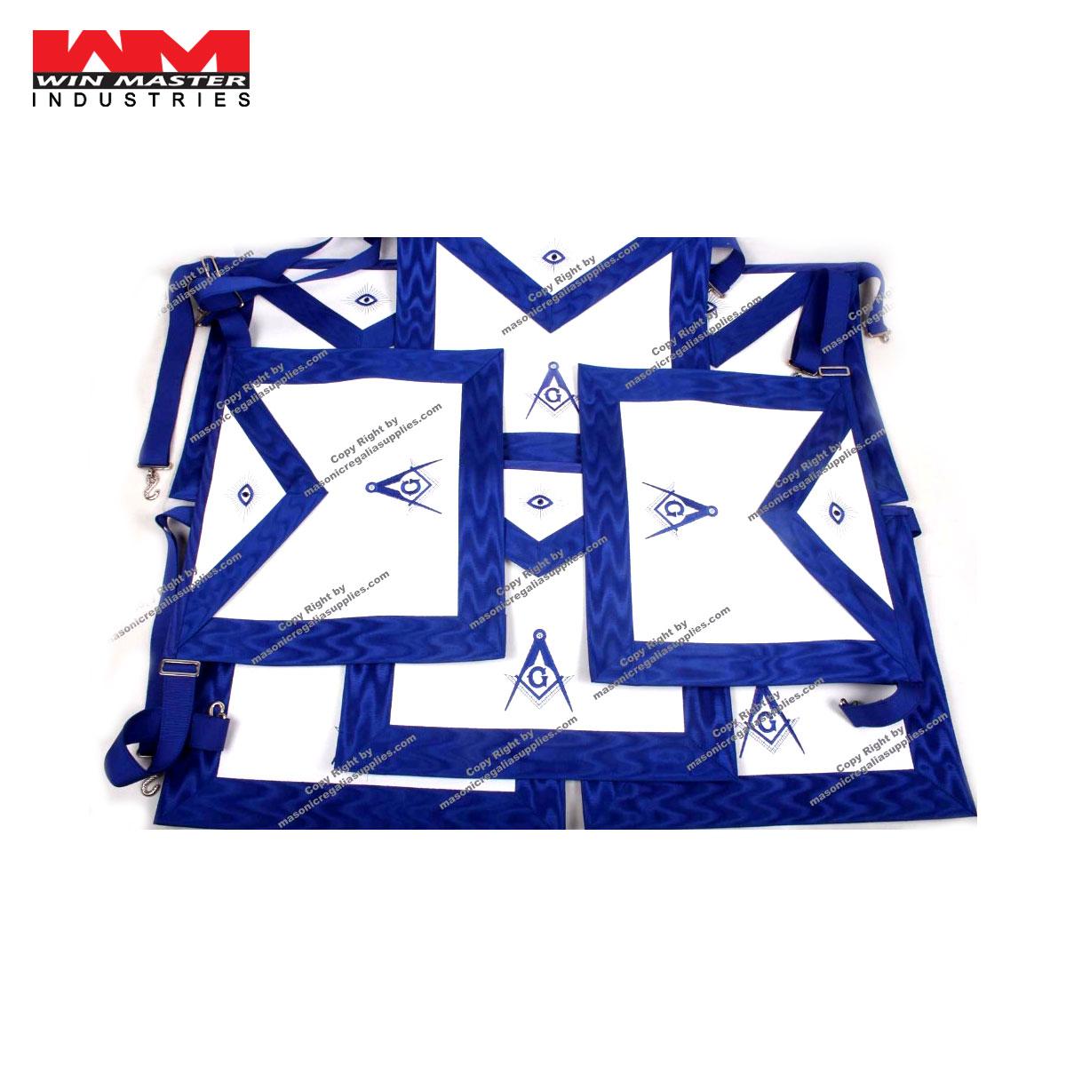 Masonic Masonry Blue Lodge Master Mason Aprons Royal Blue Grosgrain Borders  - Buy Masonic Masonry Blue Lodge Master Mason Aprons Royal Blue Grosgrain