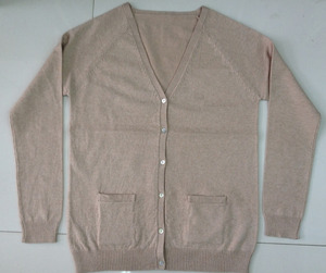 Basic Y neck button fully fashion Cardigan with pocket knitter Sweater