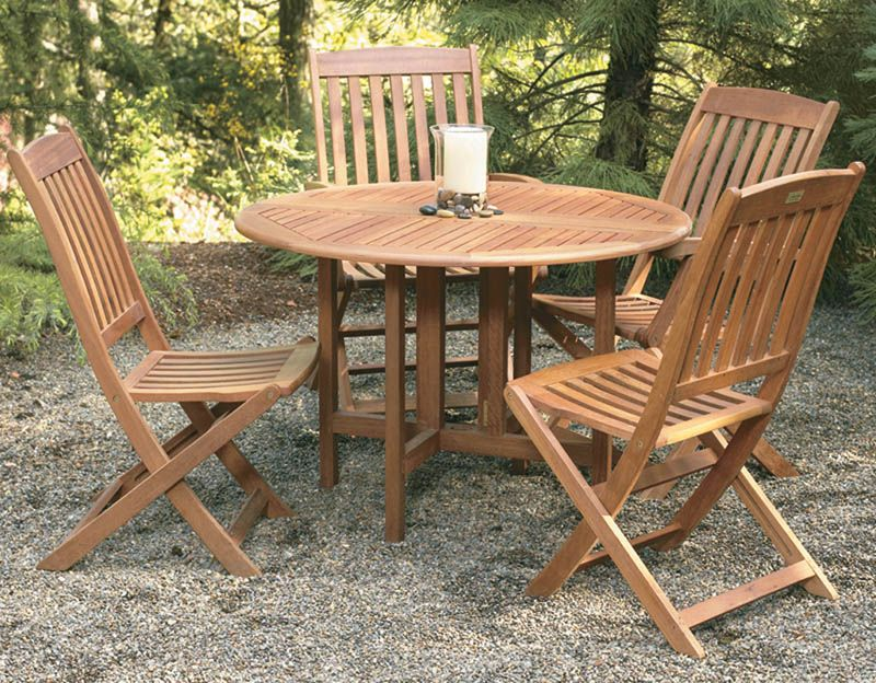 Hardwood Chairs Garden Round Wood Garden Table Starrkingschool