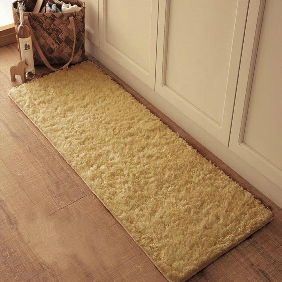 JTENGYAO Non-slip Chenille Fabric Shag Bedroom Kitchen Sofa Bathroom Mat-23.6 x 47.2 Inch