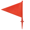 PVC Colorful Blank Colored Marking Flags