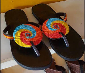 31f2cb65a59b7 Handmade Beaded Sandals. Maasai African Sandals Handmade Thongs. Flip  Flops. Leather Gladiators. Leather shoes. Holiday . Beach