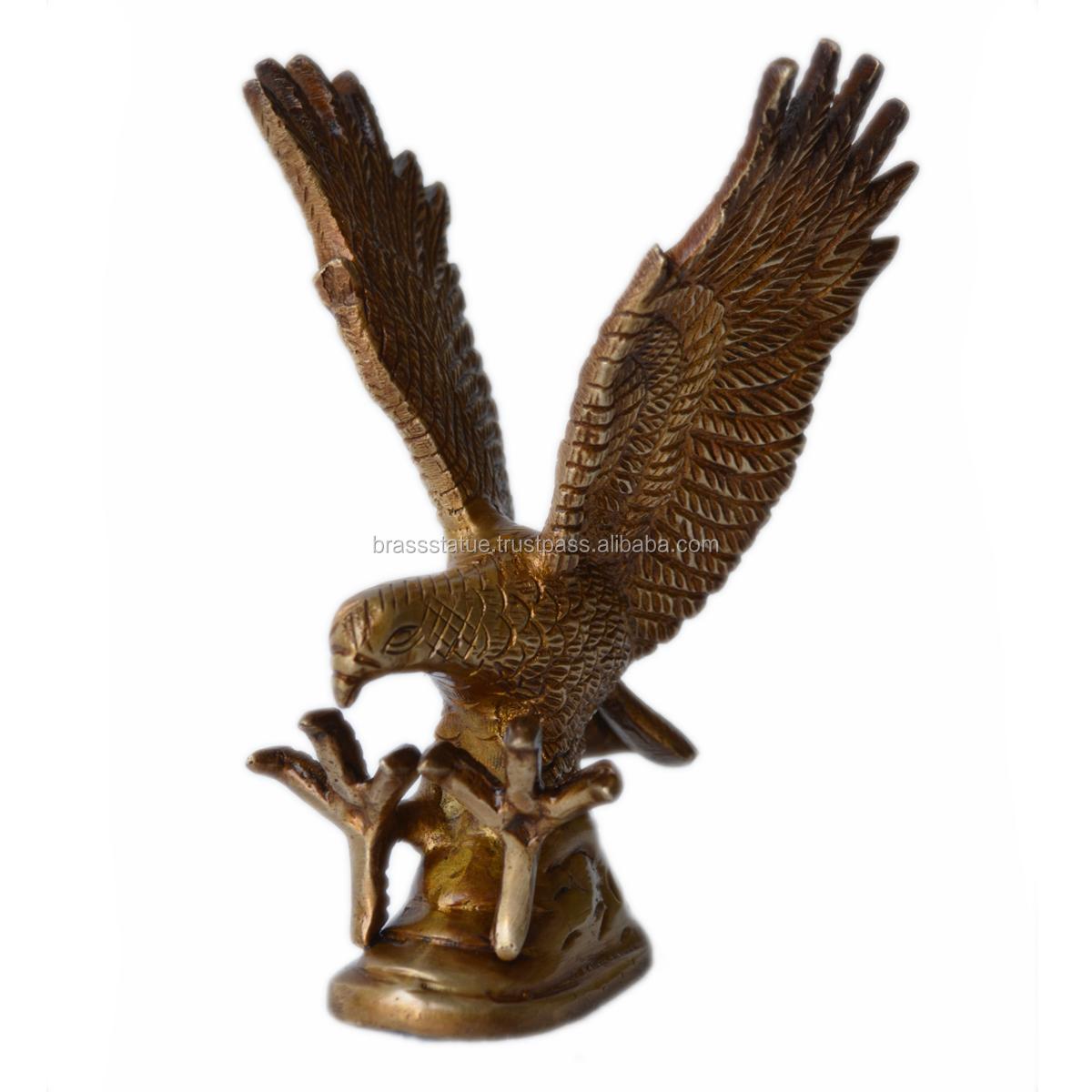 Messing-Skulptur - antiker Stil - dekoratives Prunkstück - Geschenk - Metallhandwerk - indische Statue