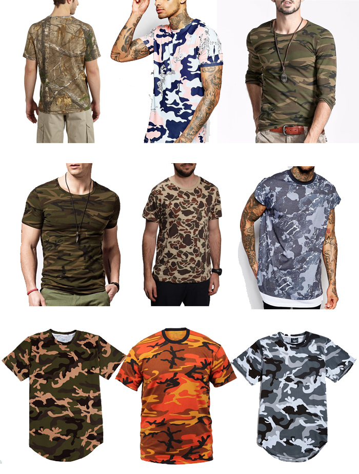 latest shirt designs tshirt New Style Fashion Female Military Camouflage men  Short Sleeve T-shirts 59a69da5ae7