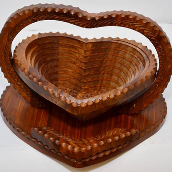 Hand Crafted Wooden Collapsible Fruit Bowl Bread Basket3 Compartments Wooden Collapsible Basketswooden Handcrafted Folding Buy Wood Hand Carved