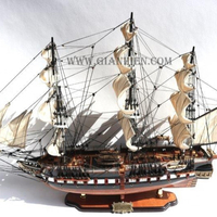 USS CONSTITUTION PAINTED MODEL - WOODEN MODEL SHIP