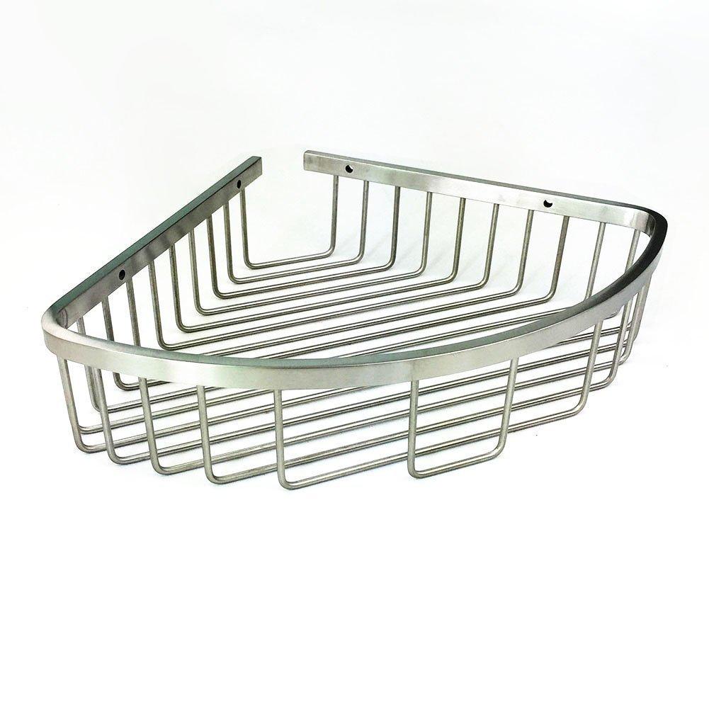 304 Stainless Steel Shower Caddy Corner Basket Shelf Bathroom Organizer Wall Mounted Storage, Brushed Nickel