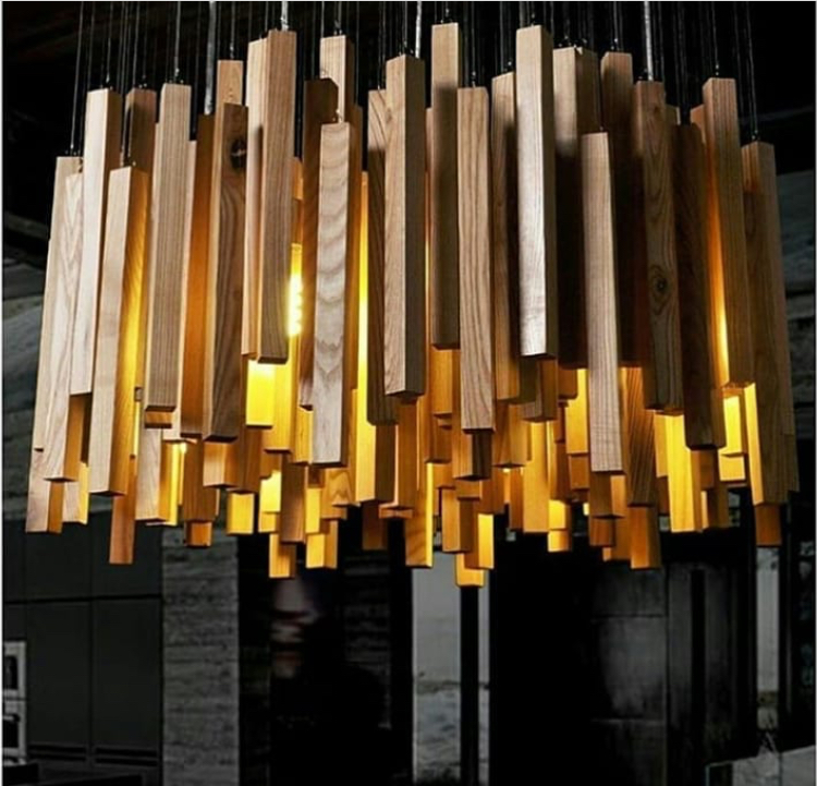 Industrial Decorative Wooden Hanging Strip Lighting