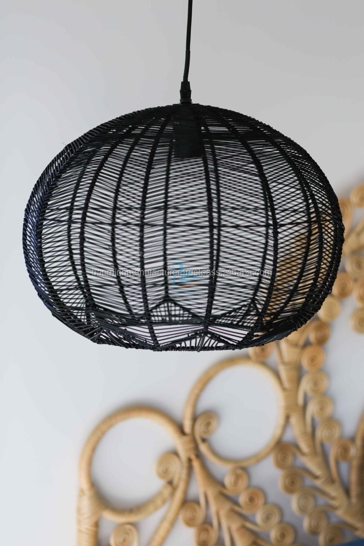 Black Wicker  Rattan  Ceiling  Pendant Light  Shade  Buy