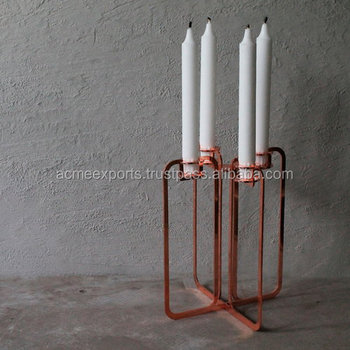 Gold plated wedding candle holder | tall candle holders for weddings | rotating candle holder