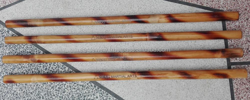 PREMIUM QUALITY RATTAN ESCRIMA STICKS WITH LASE ENGRAVING LOGO WEIGHT 220 TO 250 GRAMS